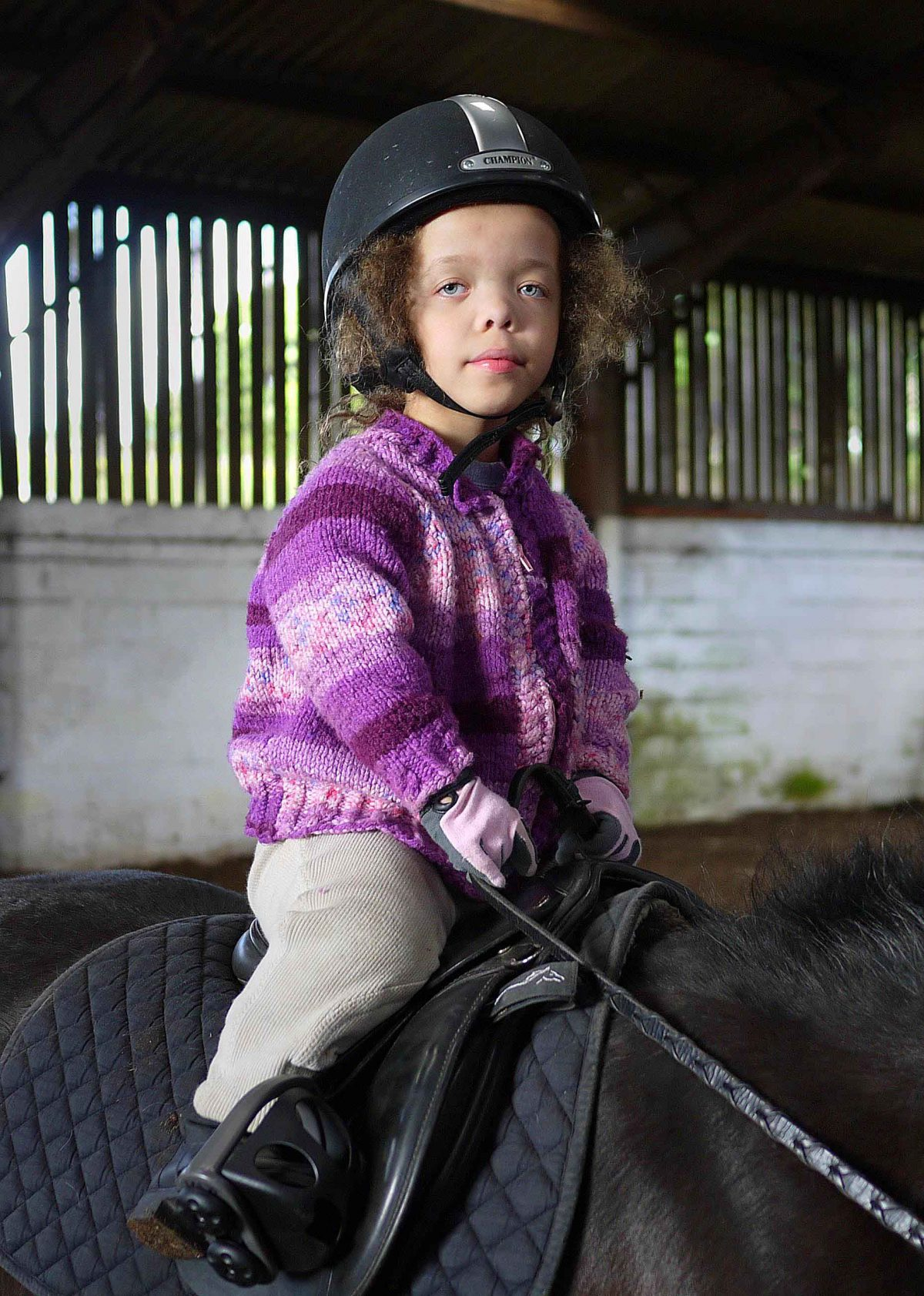 Savannah is a natural and confident rider