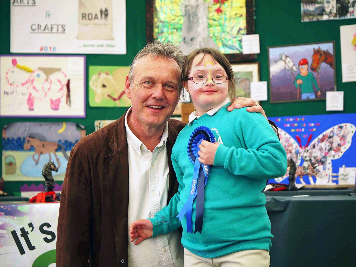 Rebecca organising Anthony Head
