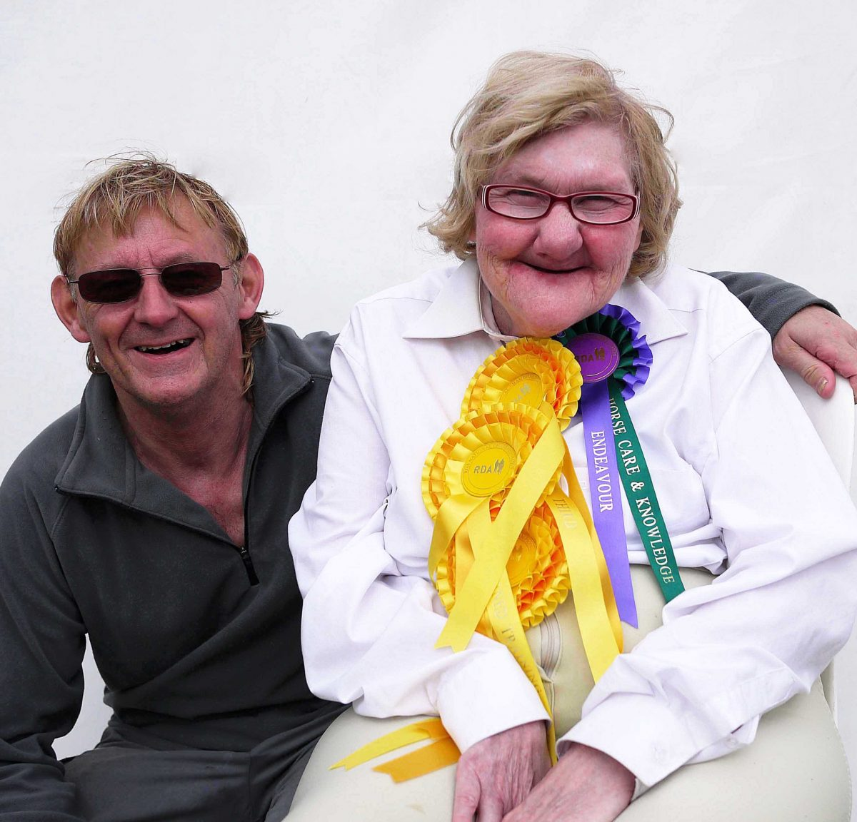 Barry and Ann celebrate her achievments after a competition