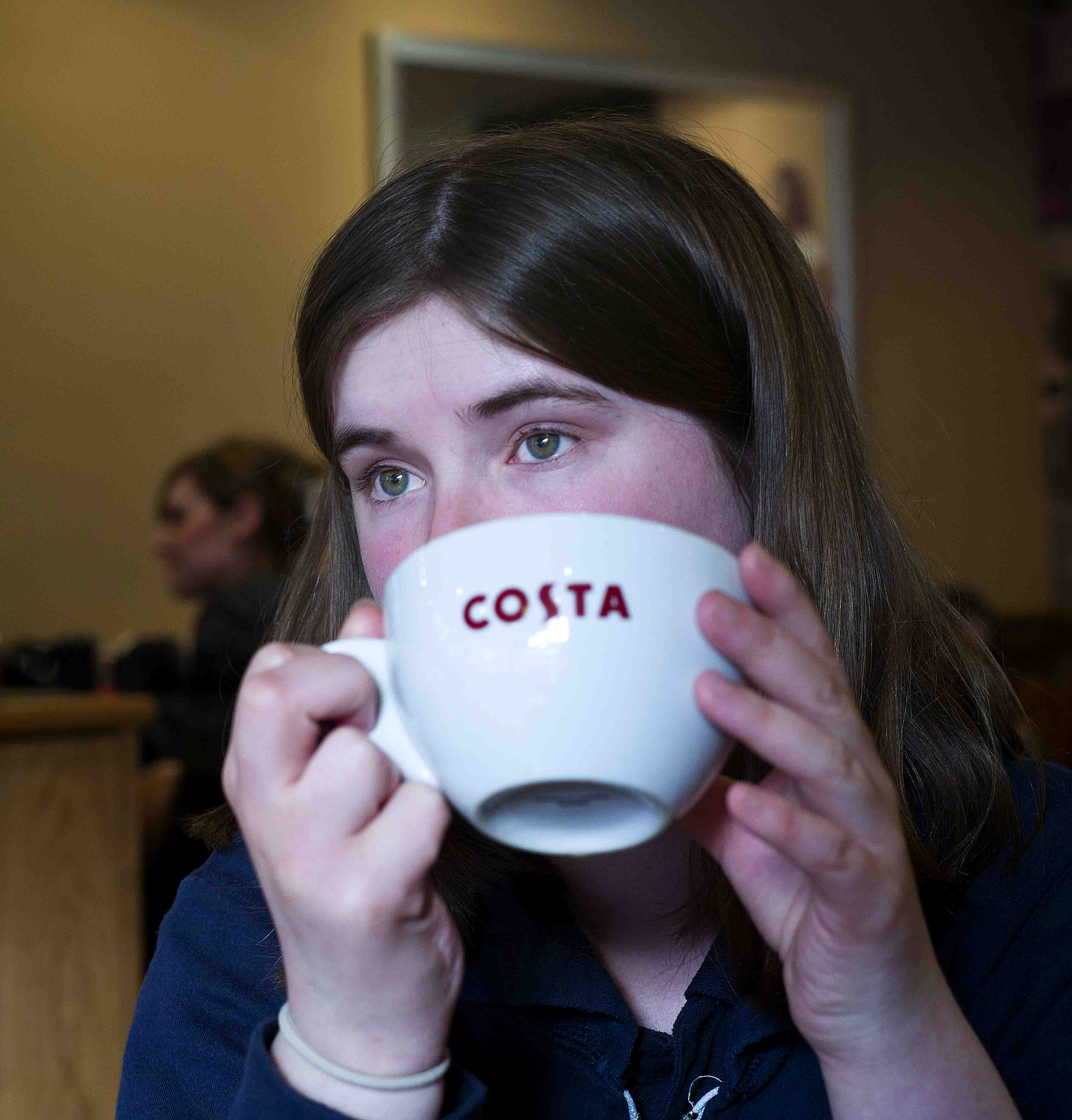 Sitting in Costa drinking tea is an important daily routine for Anna.