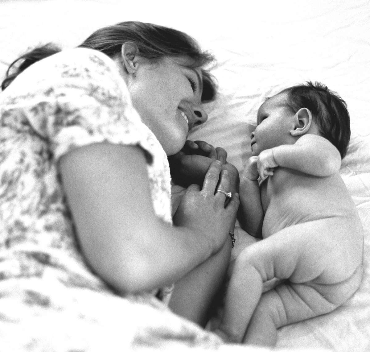 Mother and her baby who has disabilities and unconditional love