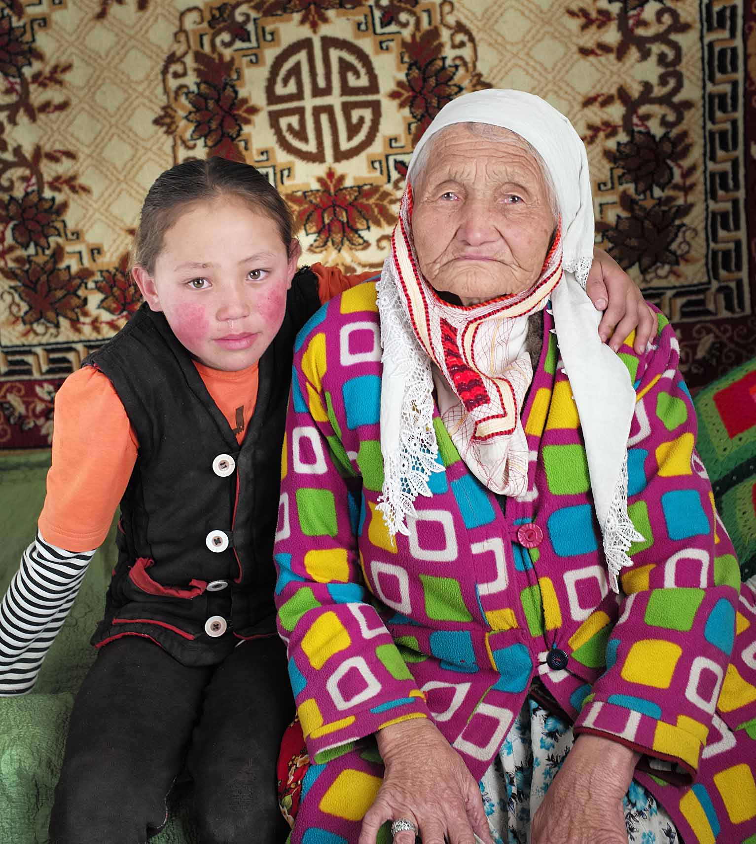 Akerke and Anikei still needed each other but their roles had reversed. The girl with a learning disability had developed and was able to support her aging grandmother. The girl who had been led by her grandmother now took the lead and hugged her grandmother gently. Her different life, like the other 'Different Lives in Mongolia', has important lessons for us all.